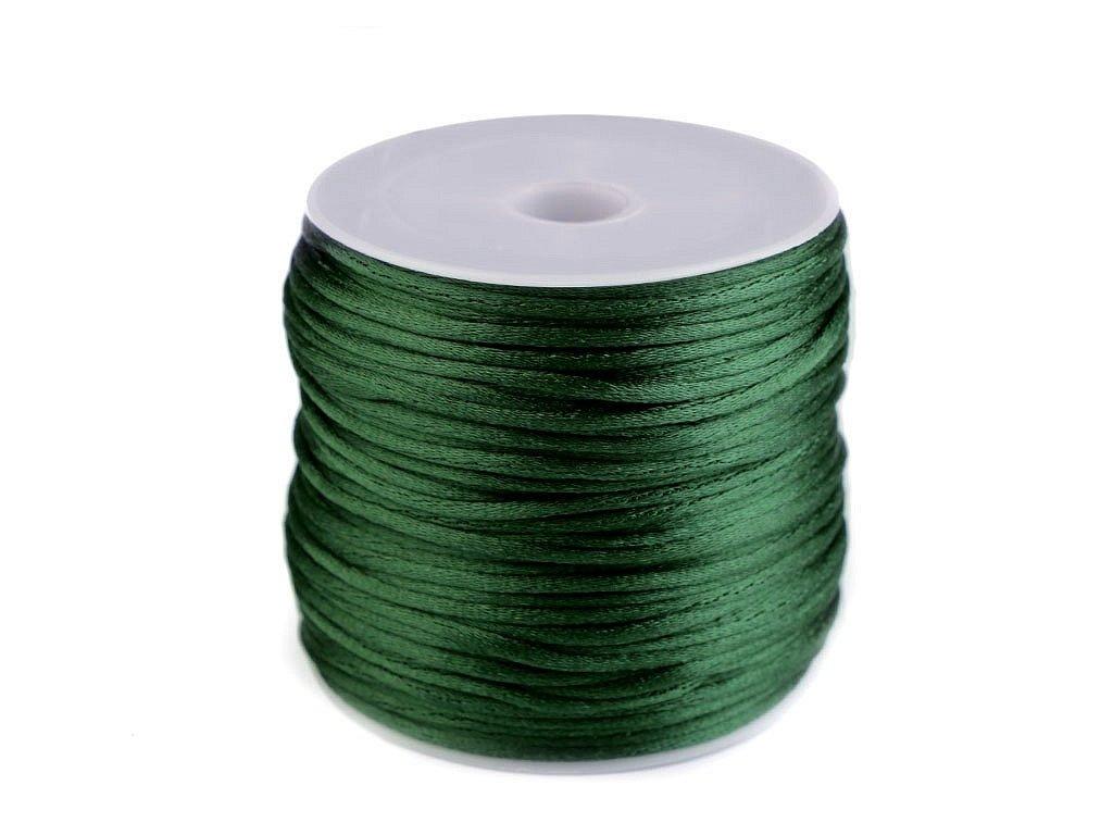 Šnúra Ø1 mm saténová zelená