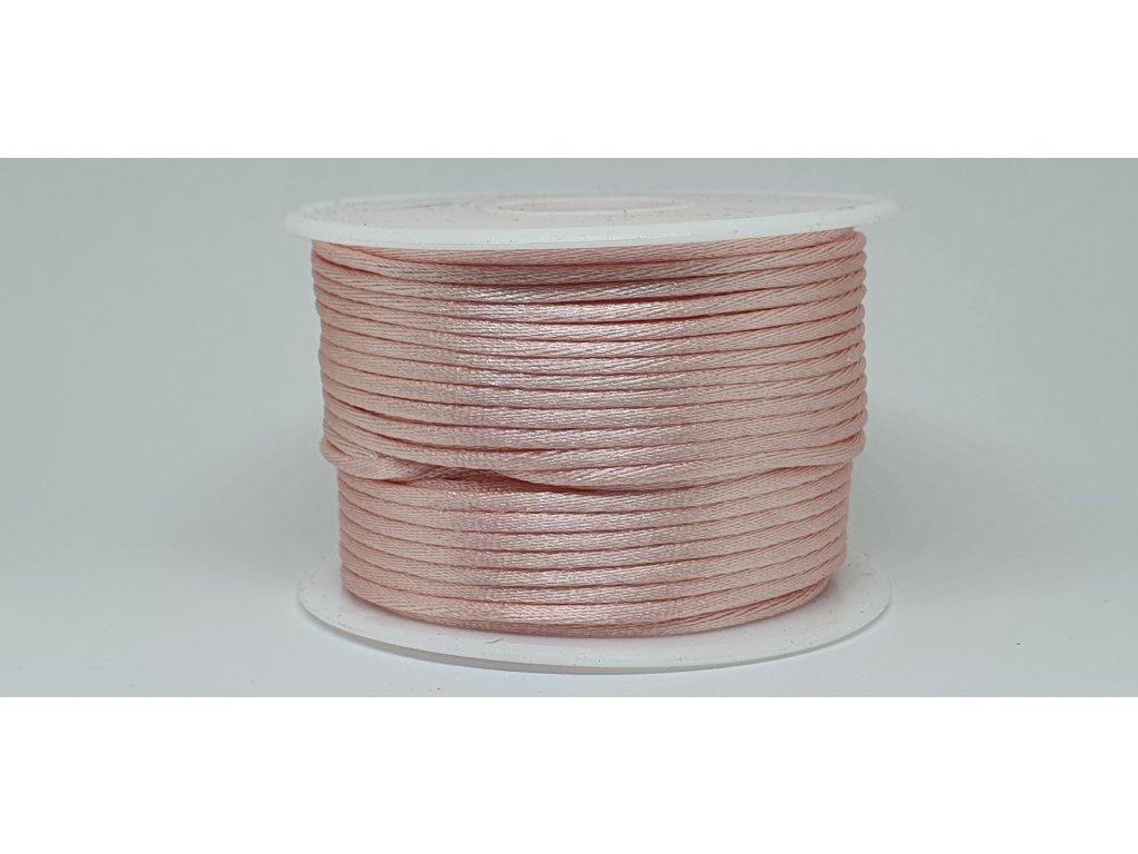 Šnúra Ø2 mm saténová svetlá ružová A013