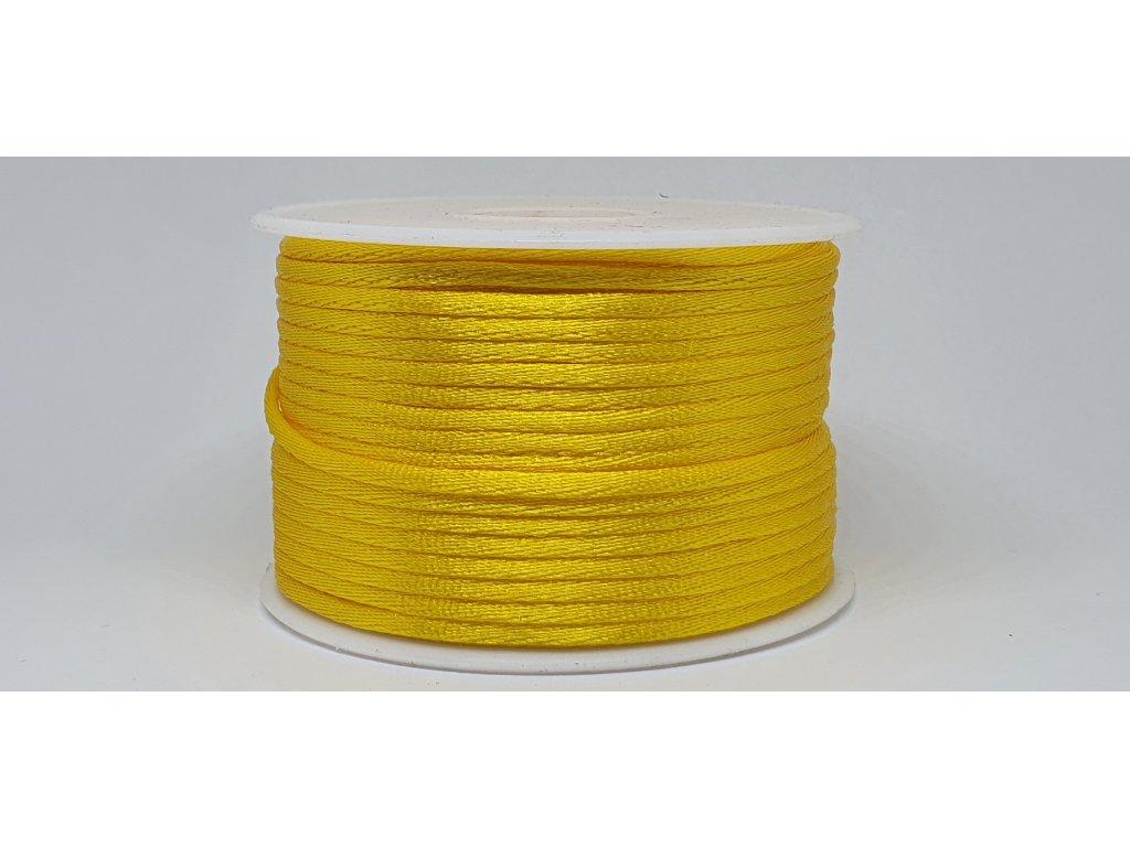 Šnúra Ø2 mm saténová sýta žltá A006