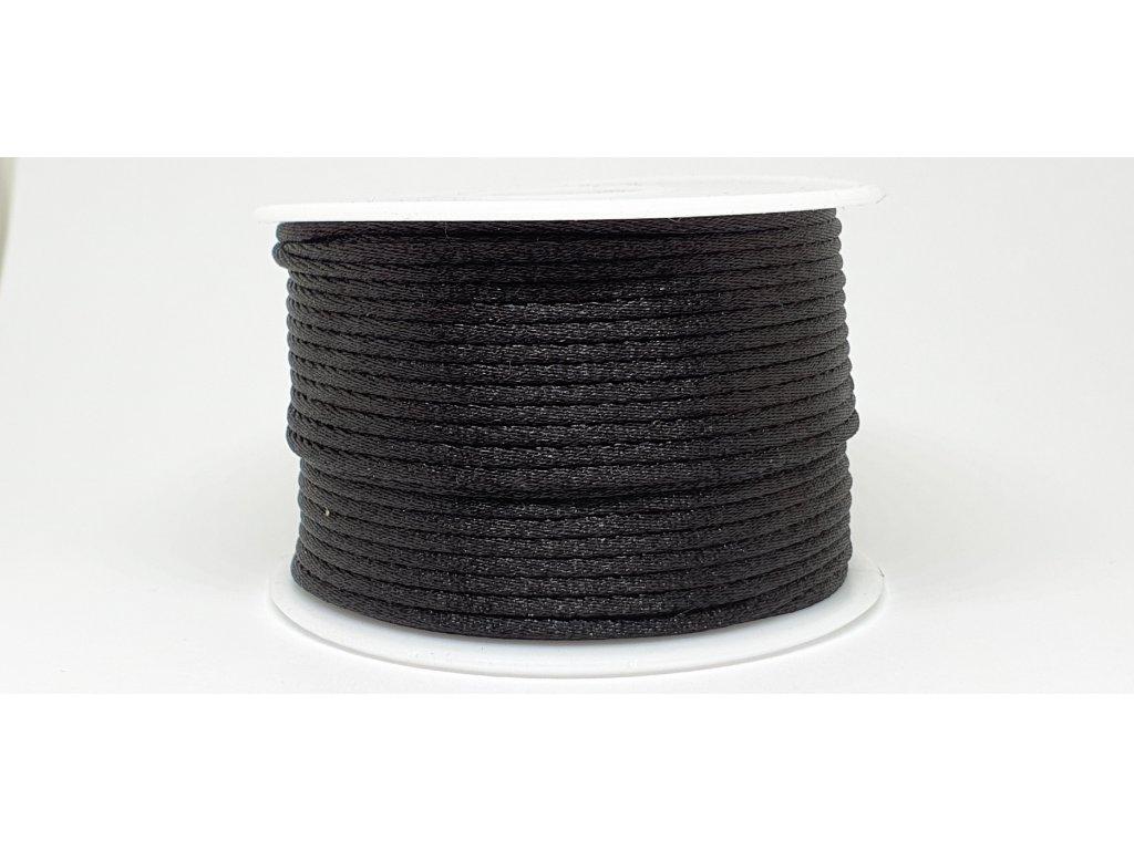 Šnúra Ø2 mm saténová čierna A040