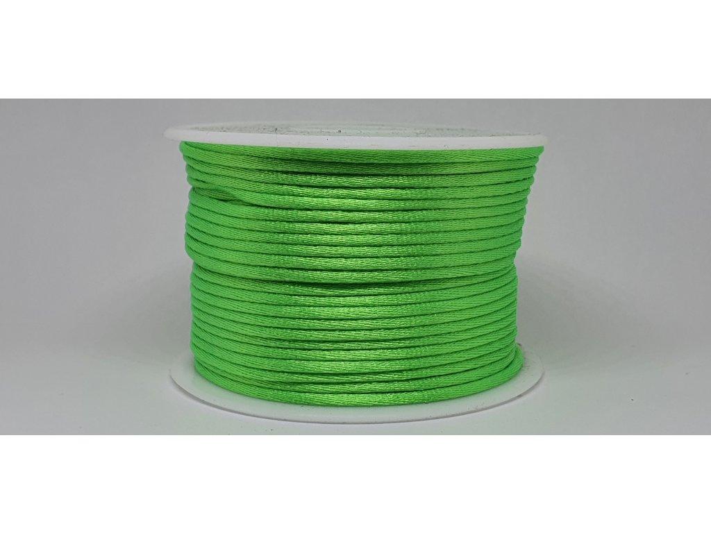 Šnúra Ø2 mm saténová neónová zelená A052