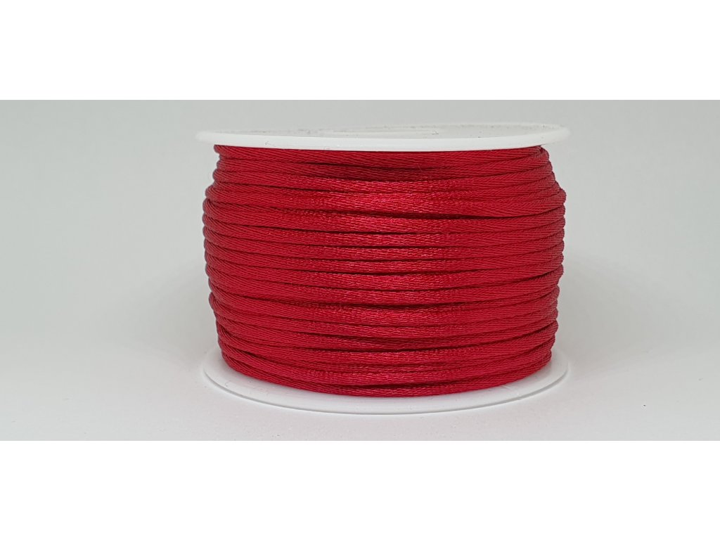 Šnúra Ø2 mm saténová tmavá červená A020