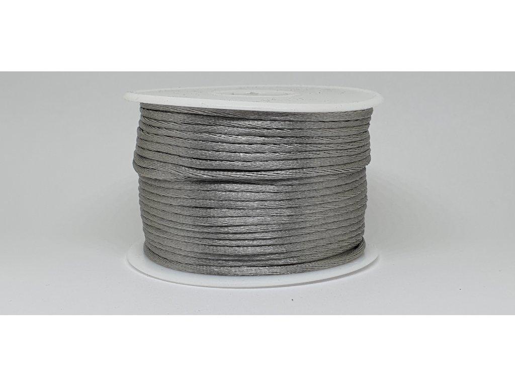 Šnúra Ø2 mm saténová sivá A055