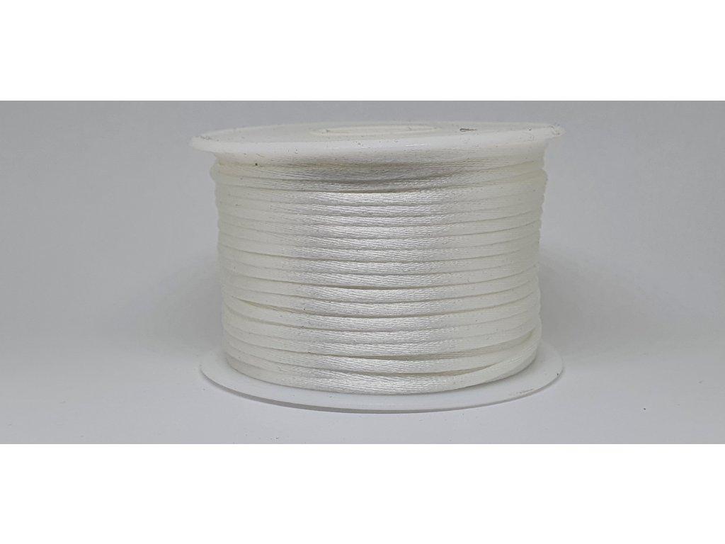Šnúra Ø2 mm saténová perleťovo biela A002
