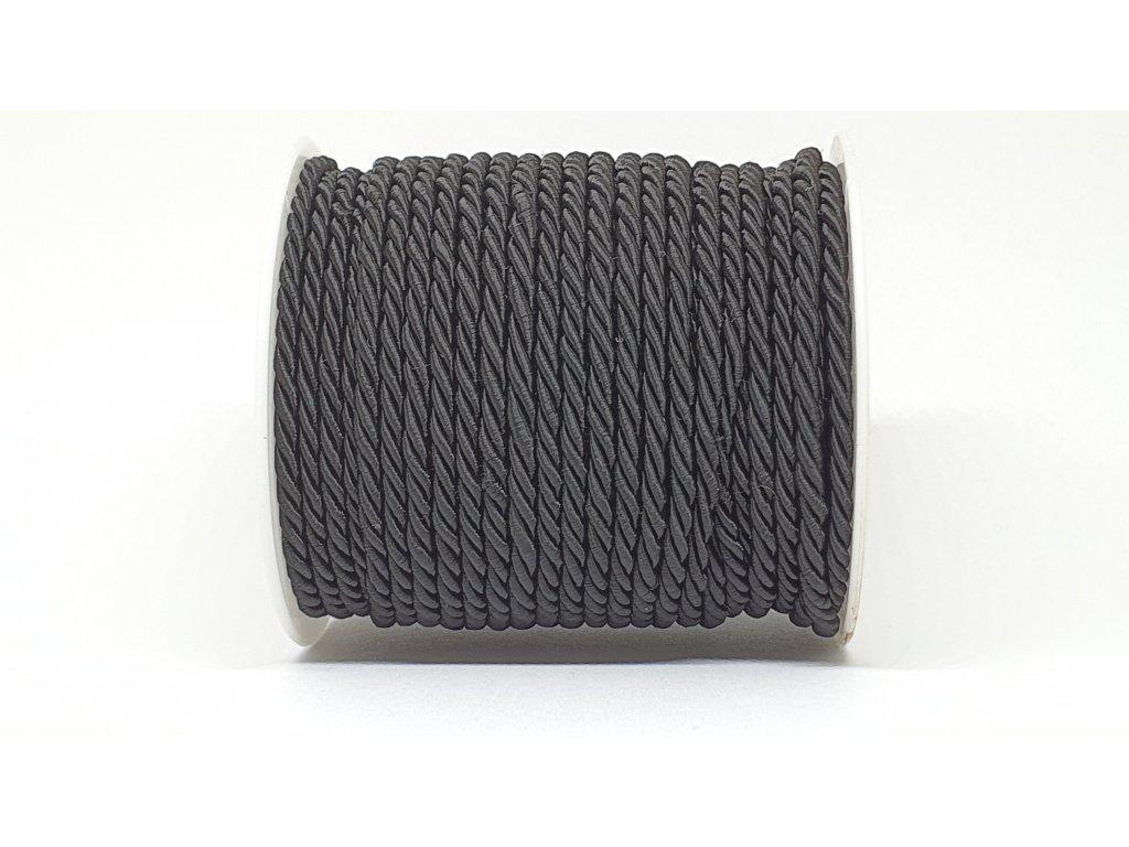 Šnúra točená Ø3mm čierna A040