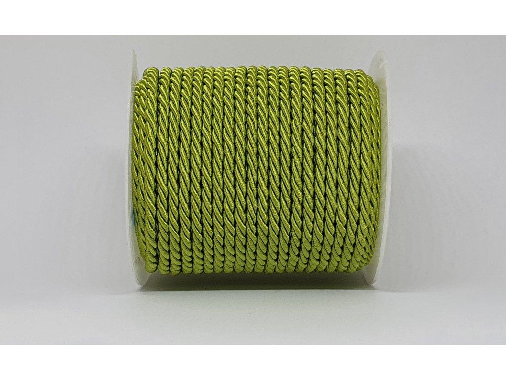 Šnúra točená Ø3mm žiarivá zelená A025