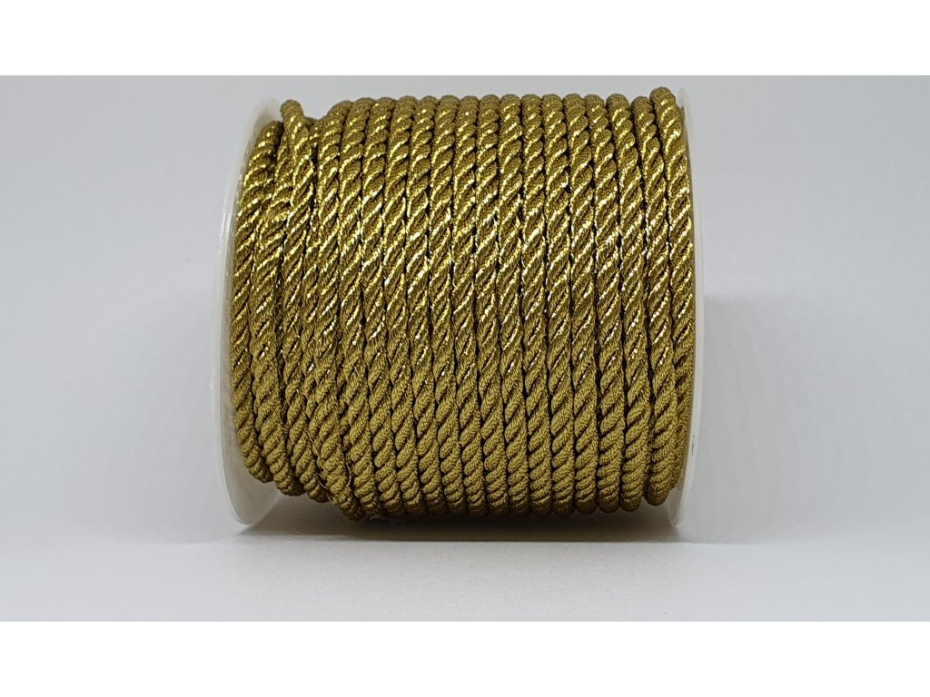 Šnúra točená Ø3mm zlatá