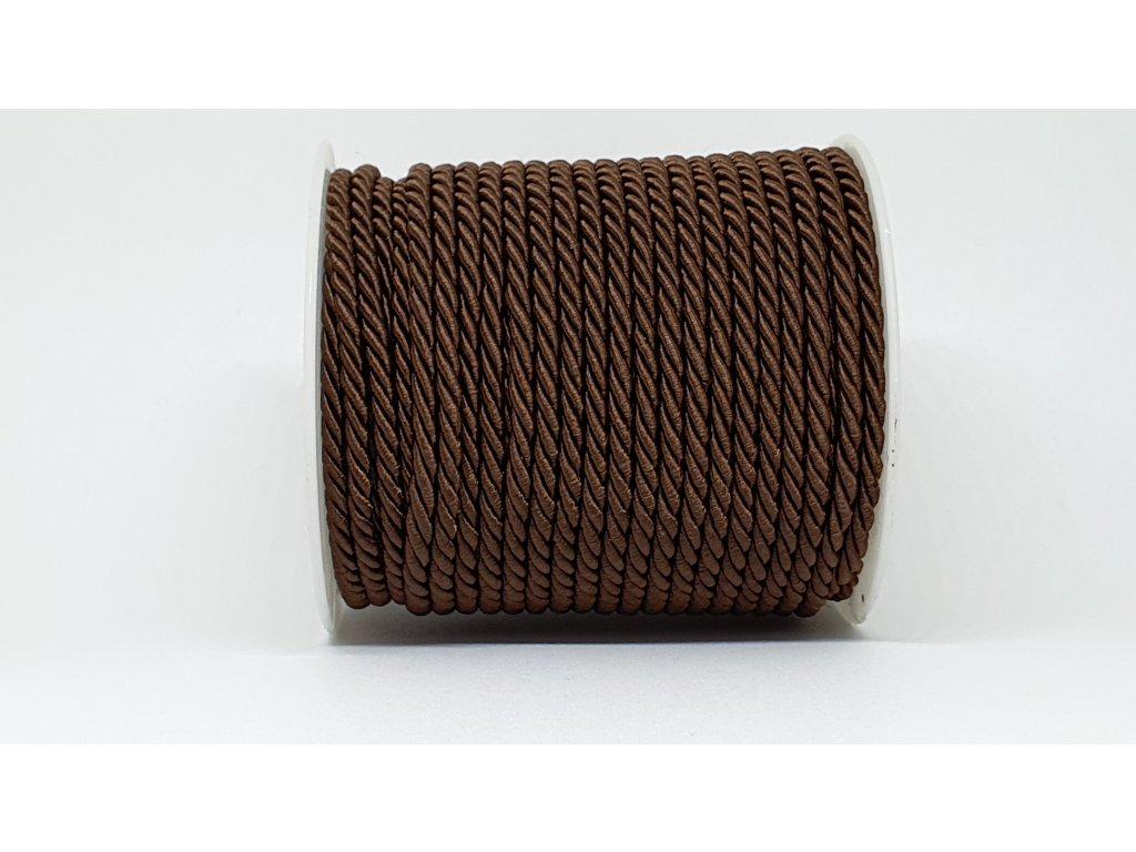 Šnúra točená Ø5mm čokoládovo hnedá A039