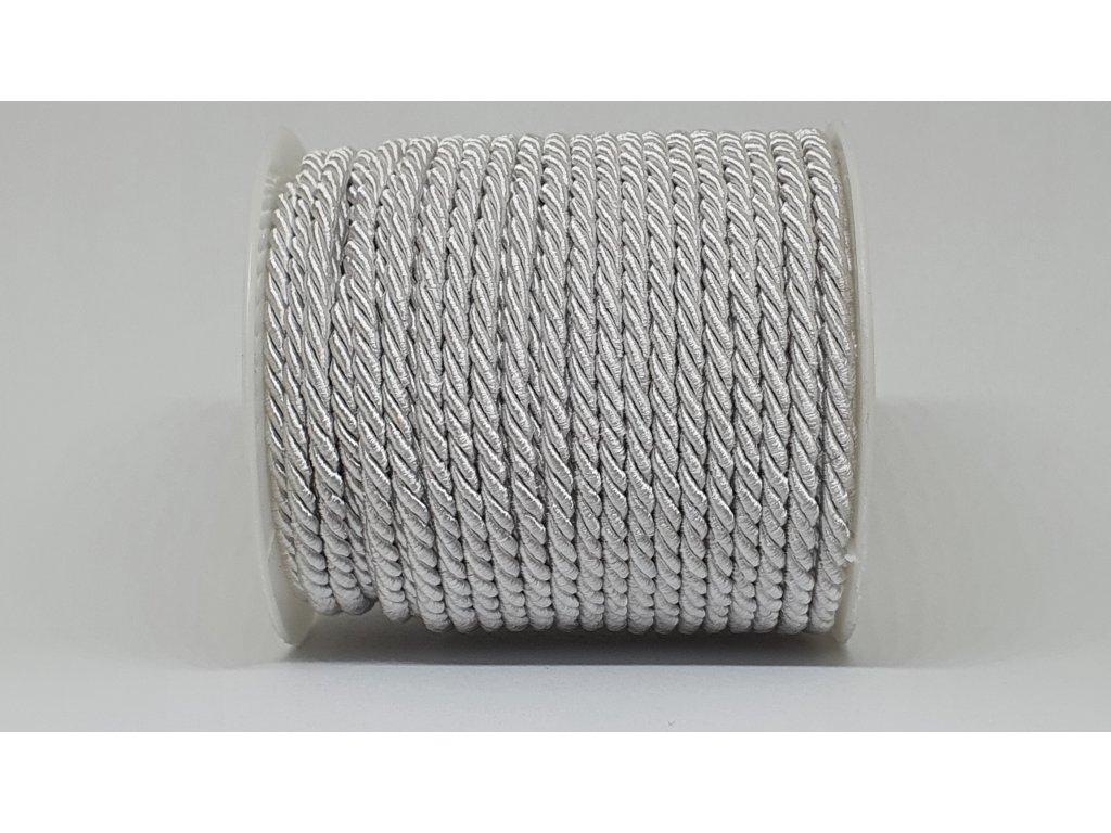 Šnúra točená Ø5mm perleťovo biela A002