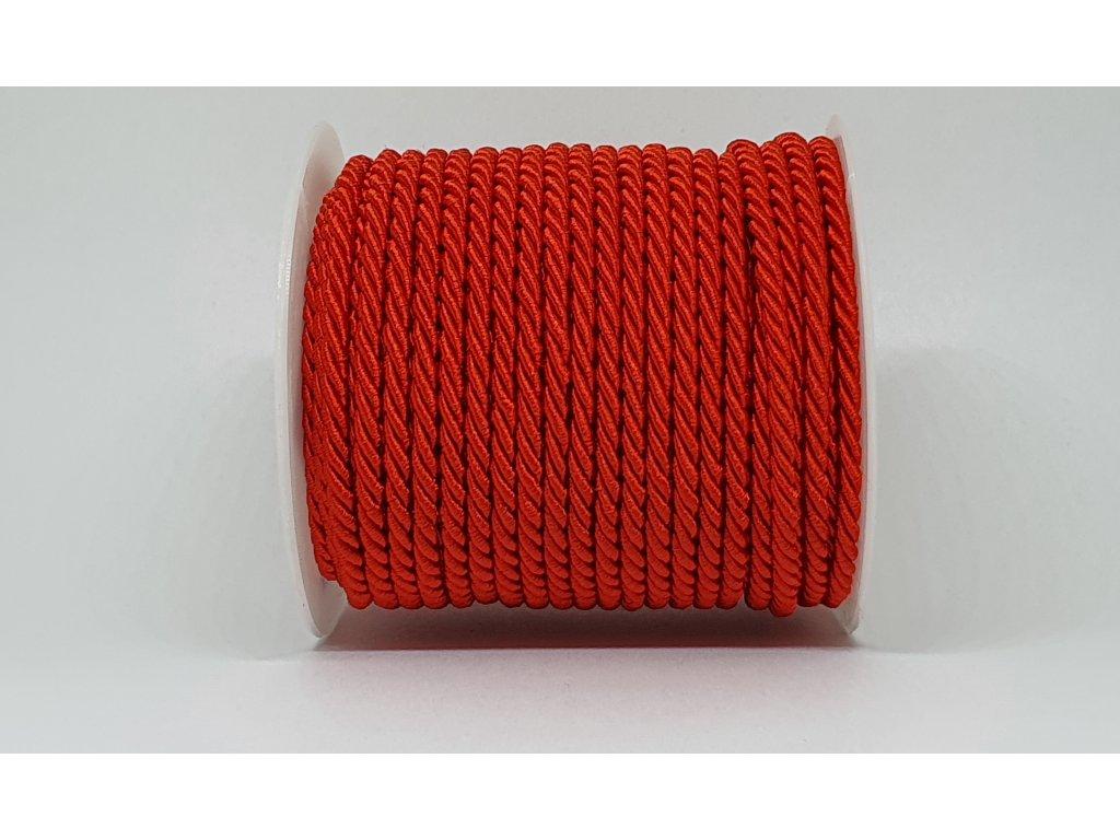 Šnúra točená Ø7mm žiarivá červená A058