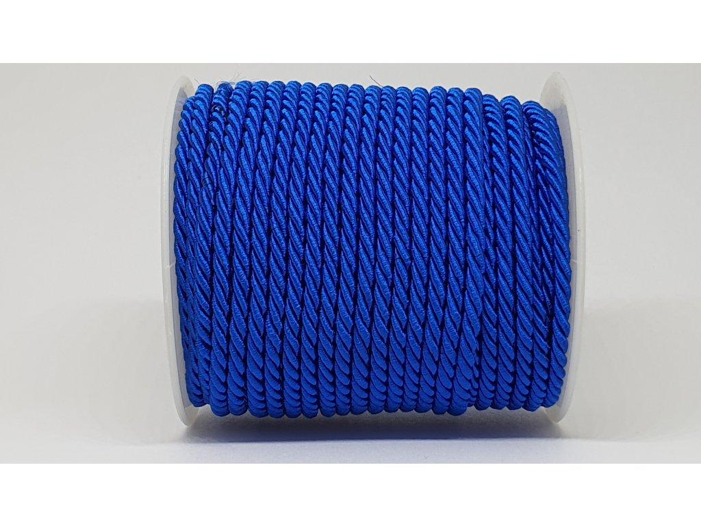 Šnúra točená Ø7mm elektrizujúca modrá A031
