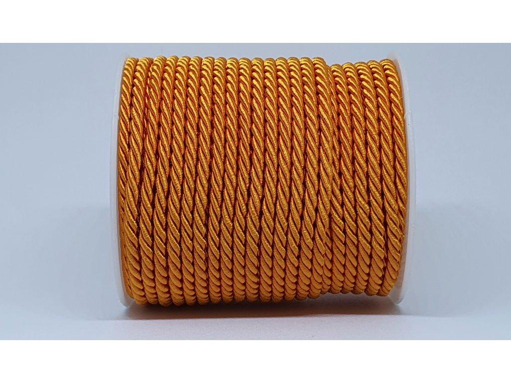 Šnúra točená Ø7mm pomarančová A012