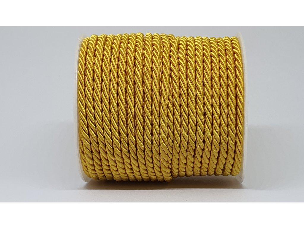 Šnúra točená Ø7mm sýta žltá A006