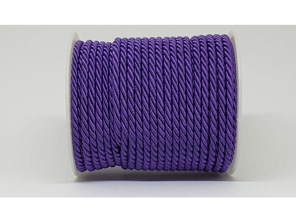 Šnúra točená Ø7mm tmavá fialová A044