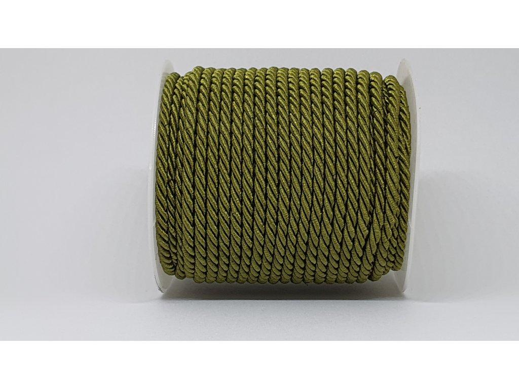 Šnúra točená Ø7mm bronzovo zelená A028