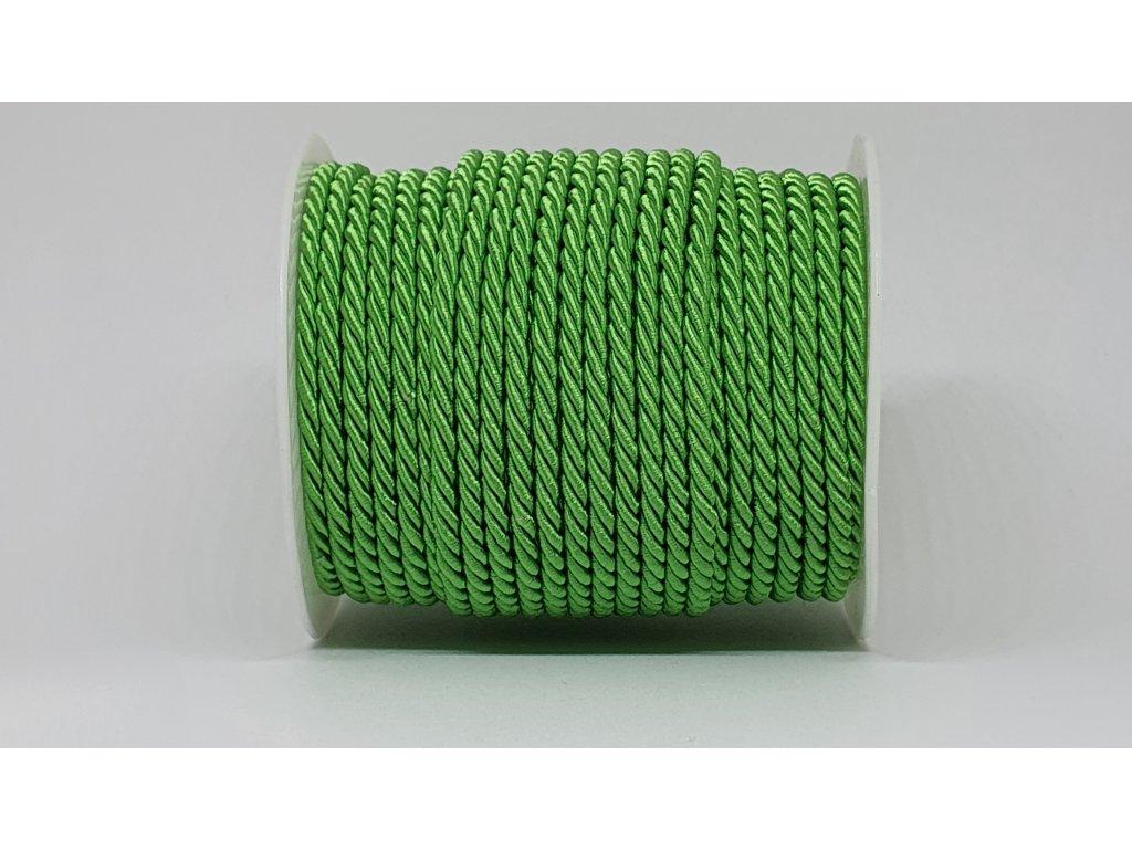 Šnúra točená Ø7mm smaragdová A022