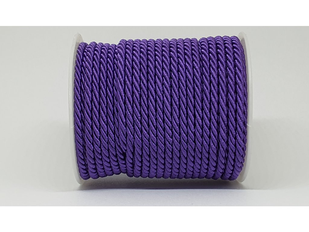 Šnúra točená Ø10mm tmavá fialová A044