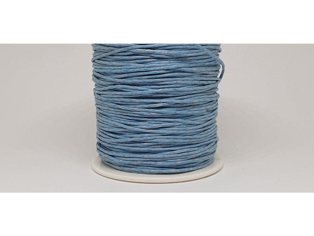 Šnúra voskovaná Ø1 mm modrá capri A034