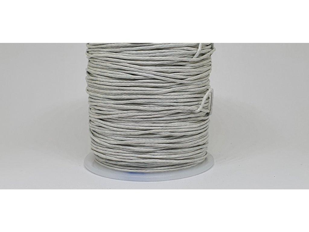 Šnúra voskovaná Ø1 mm perleťovo biela A002