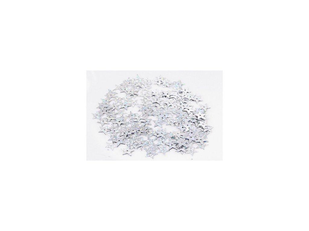 cekiny gwiazdki duze 13mm 5gram srebrne brokatowe