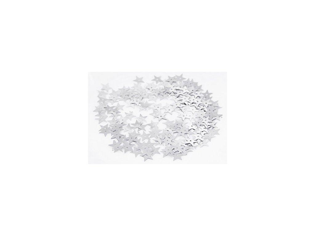 cekiny gwiazdki duze 13mm 5gram srebrne