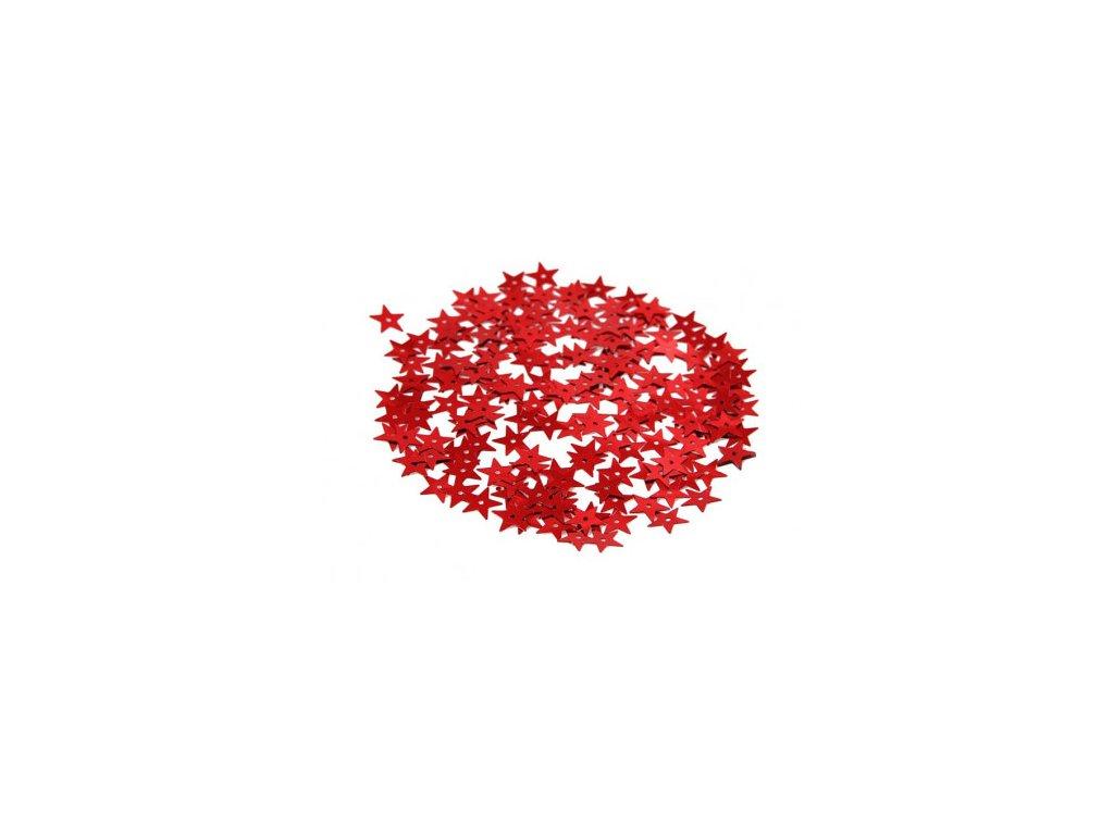 cekiny gwiazdki duze 13mm 5gram czerwone