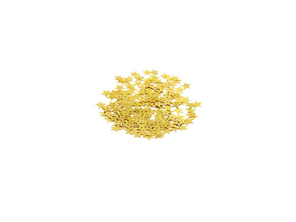 cekiny gwiazdki duze 13mm 5gram zlote brokatowe