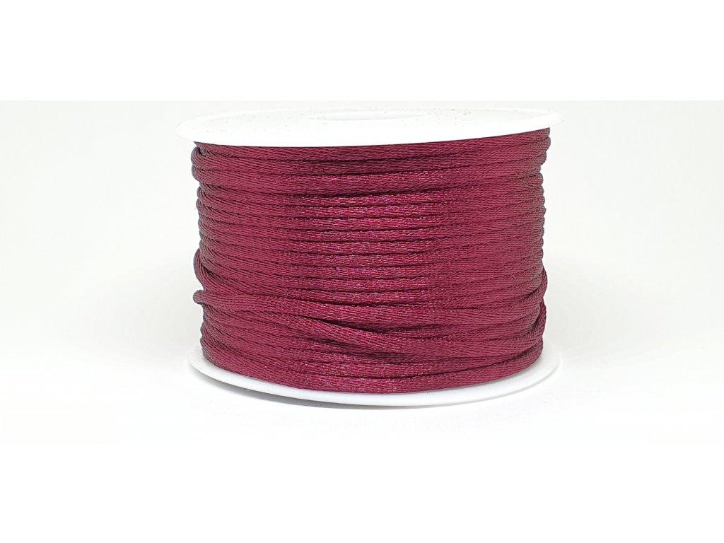 Šnúra Ø2 mm saténová bordová burgundy A066