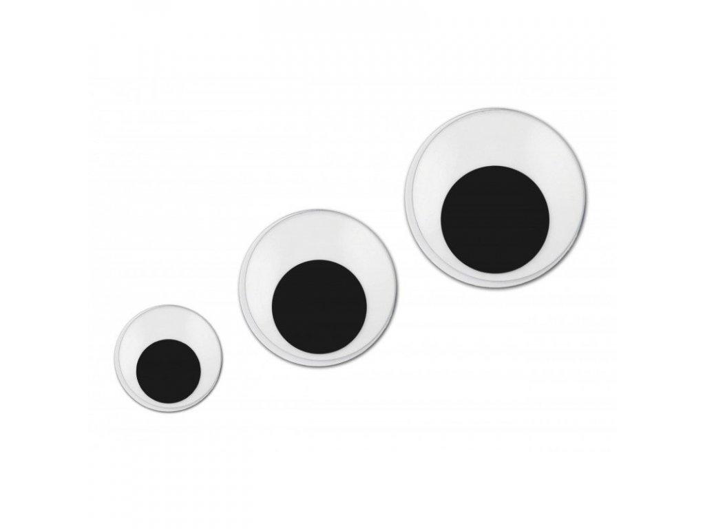 Plastové oči samolepiace okrúhle 12mm/10ks