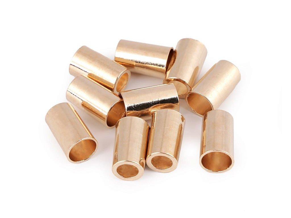 Kovová koncovka Ø5,5 mm svetlá zlatá