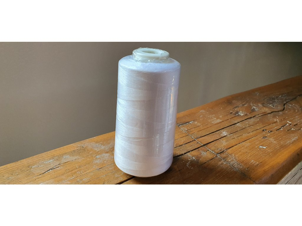 Polyesterová niť pre overlocky biela 40/2 125g