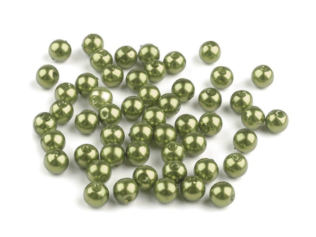 Plastové voskové koráliky Ø6mm/10g zelené