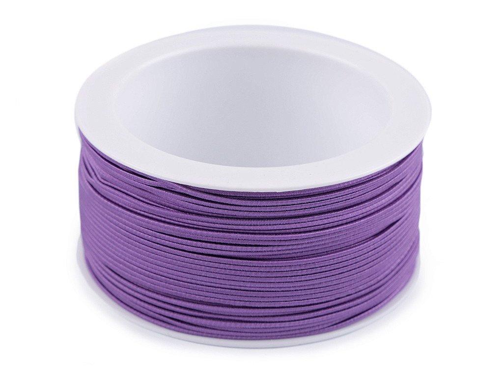 Klobúková guma guľatá Ø1,2mm fialová