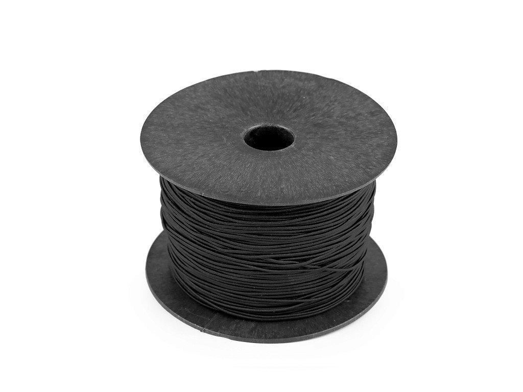 Klobúková guma guľatá Ø1,5mm čierna