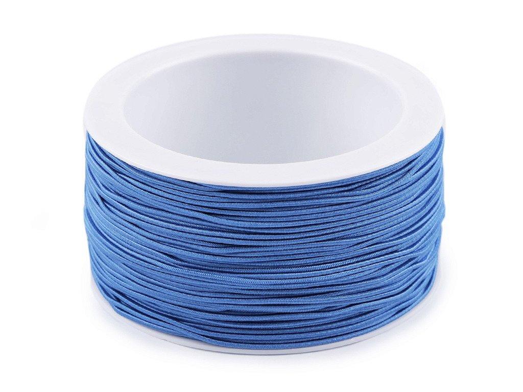 Klobúková guma guľatá Ø1,2mm modrá