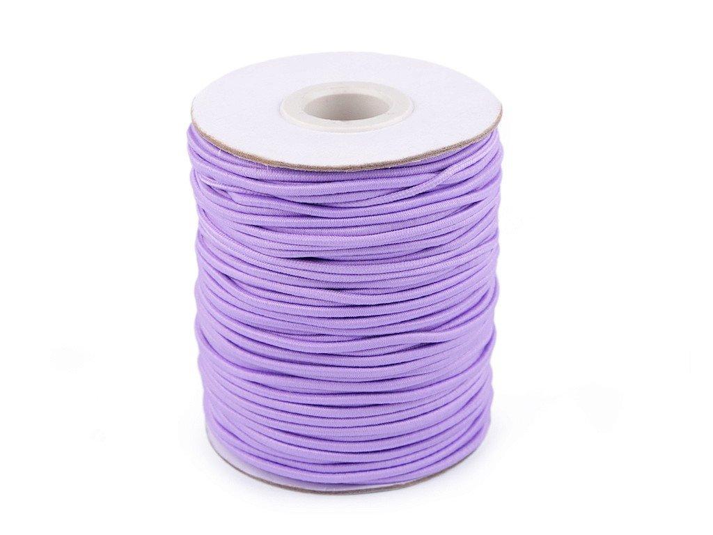 Klobúková guma guľatá Ø2mm fialová