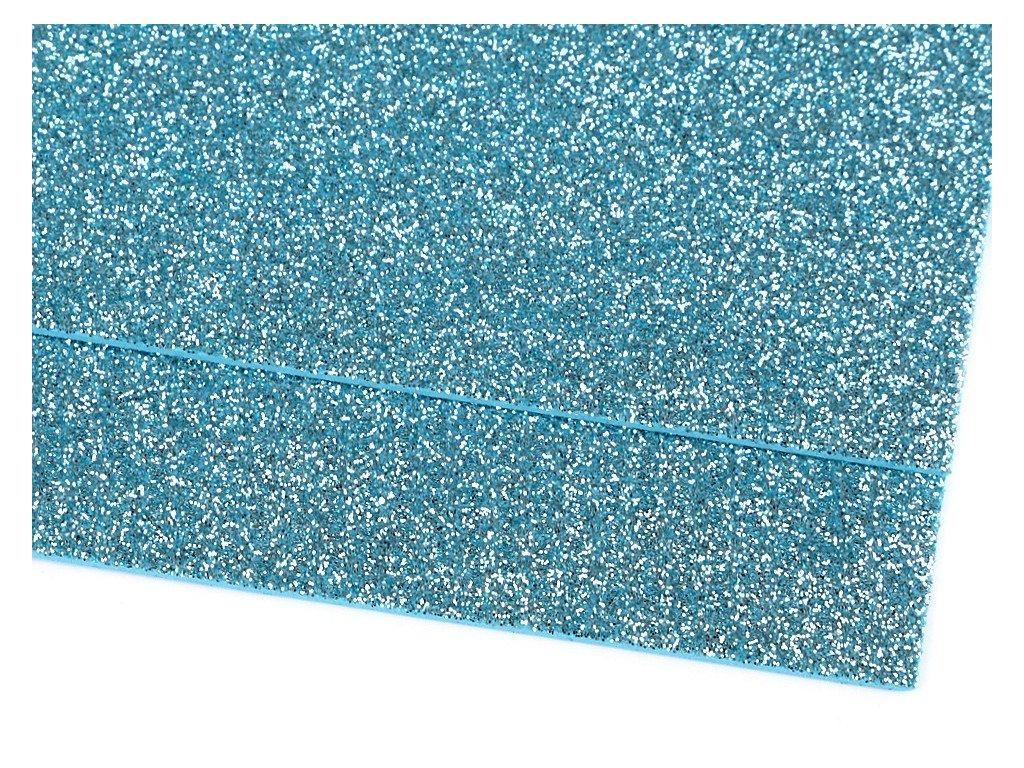 Machová guma glitrová modrá ľadová