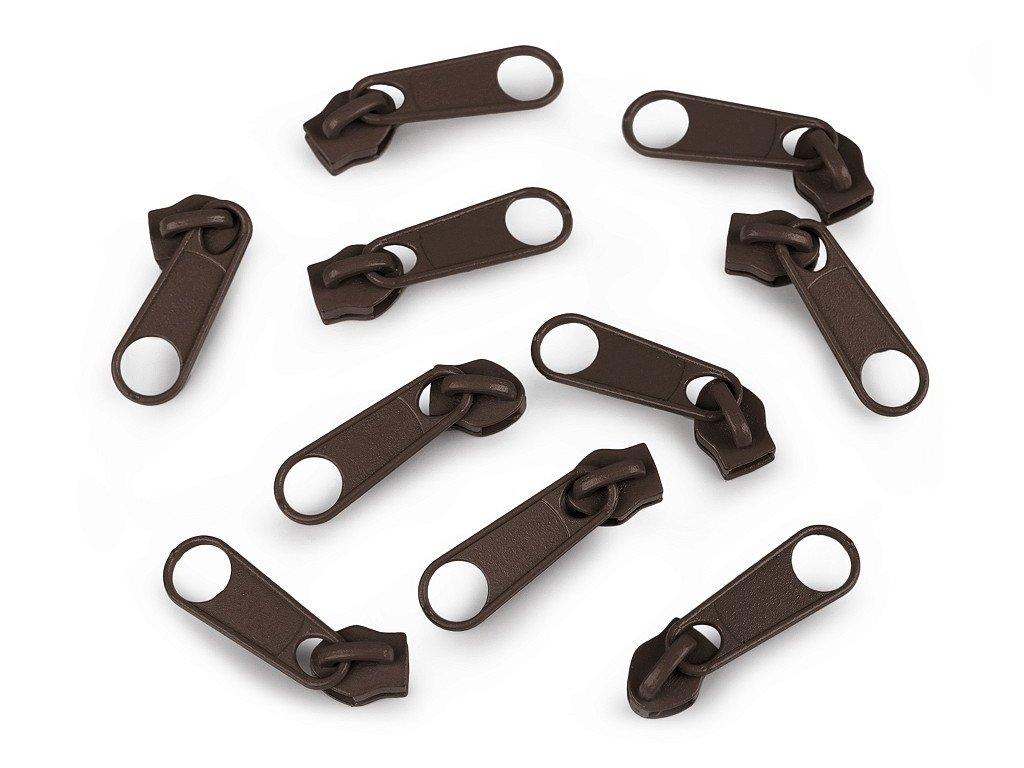 Bežec ku špirálovým zipsom 5mm čokoládový hnedý 304