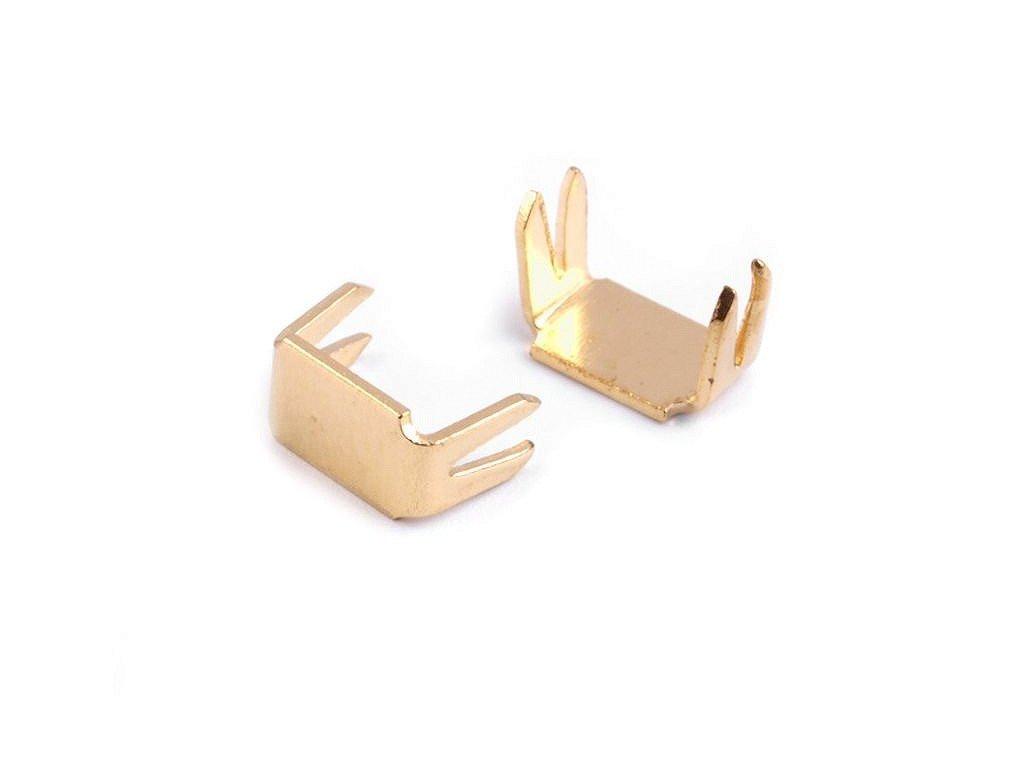 Koncovka na zips 3mm dolná zlatá