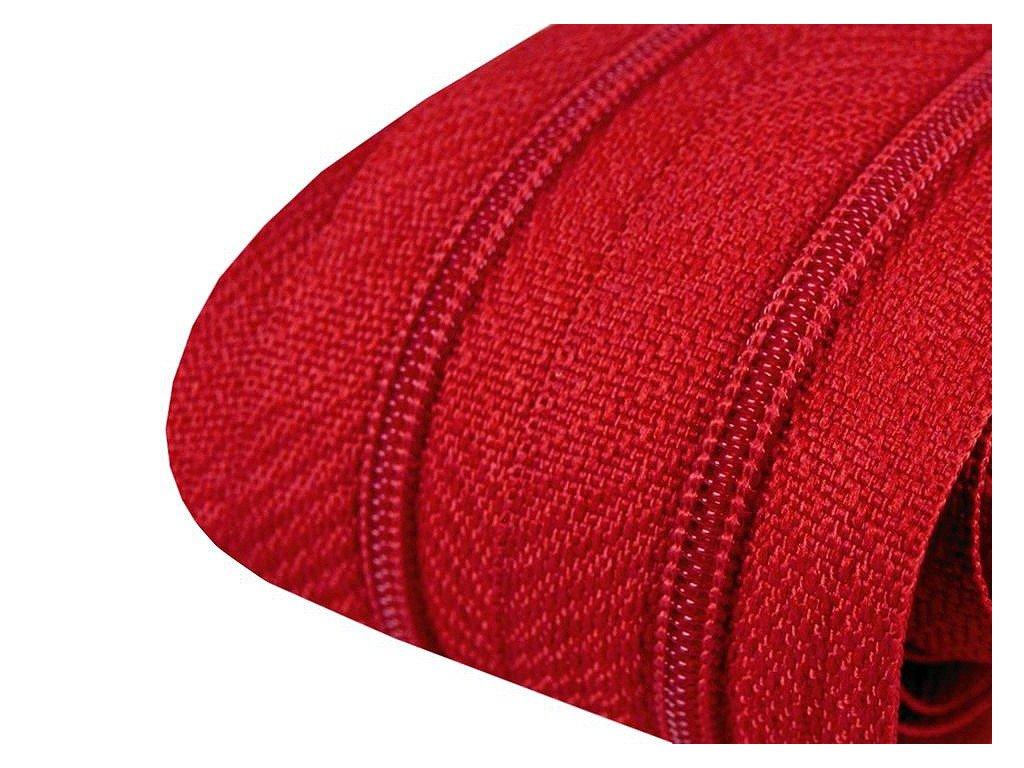 Zips špirálový 3mm metráž červený 148