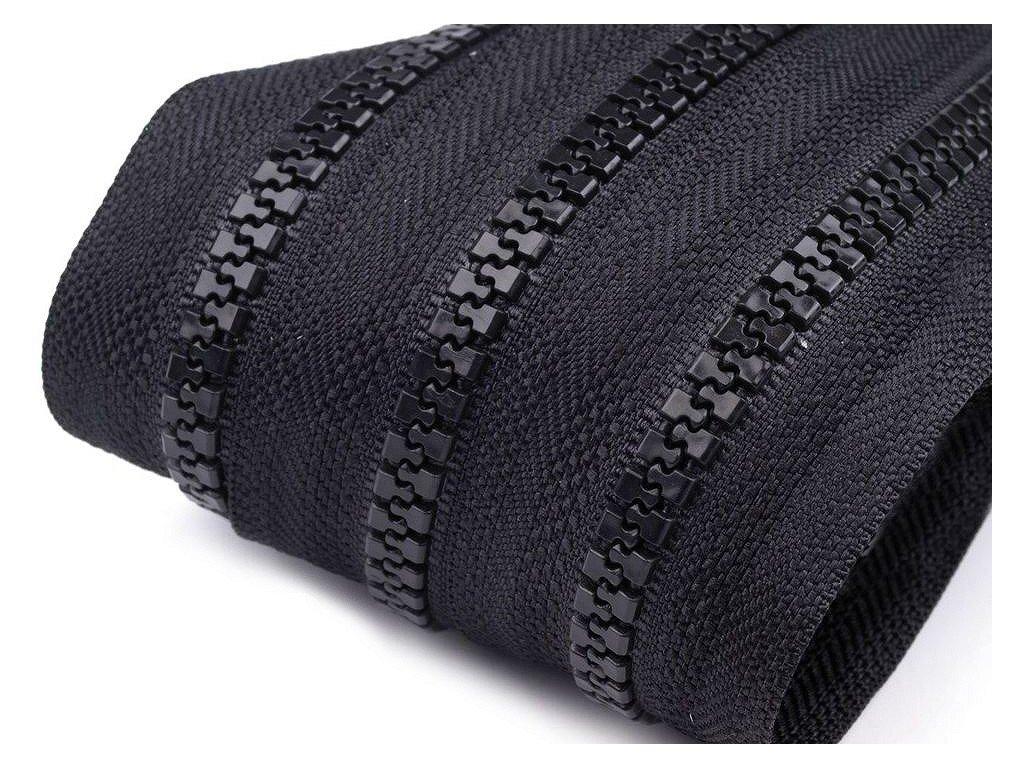 Zips kosticový 5mm metráž čierny 322