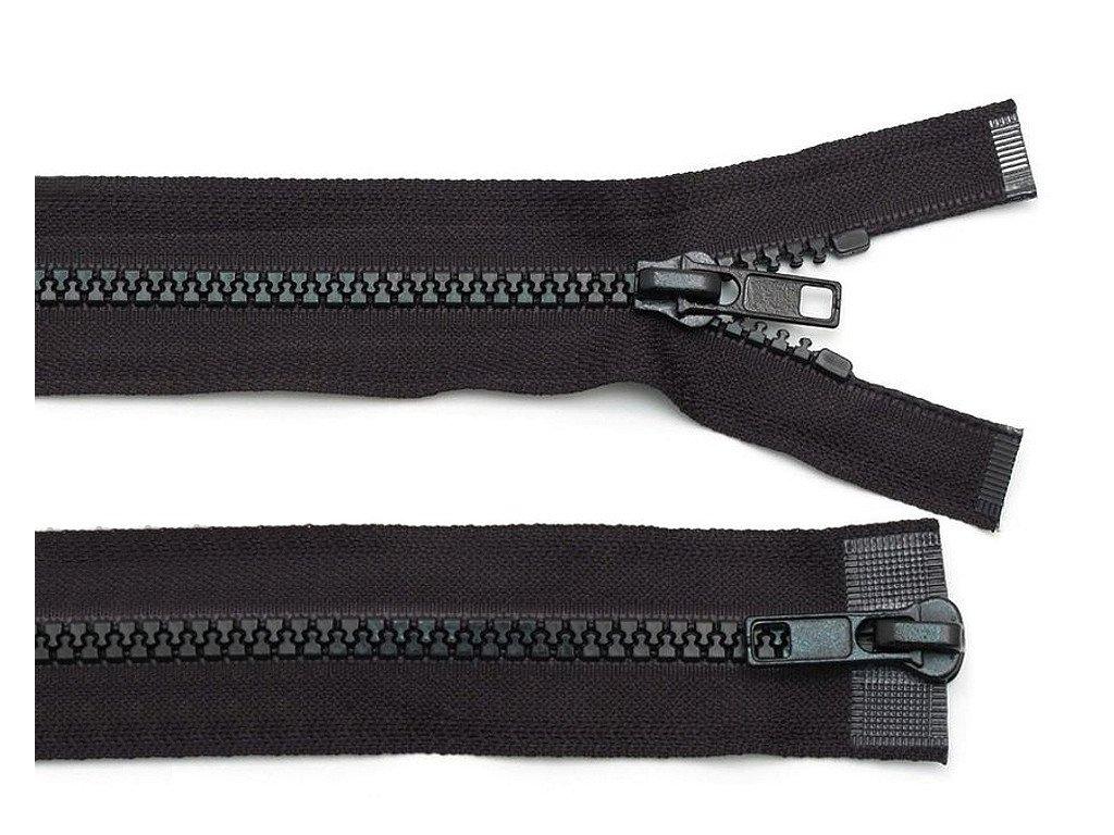 Zips kostený bundový 5mm/100cm s 2 bežcami čierny