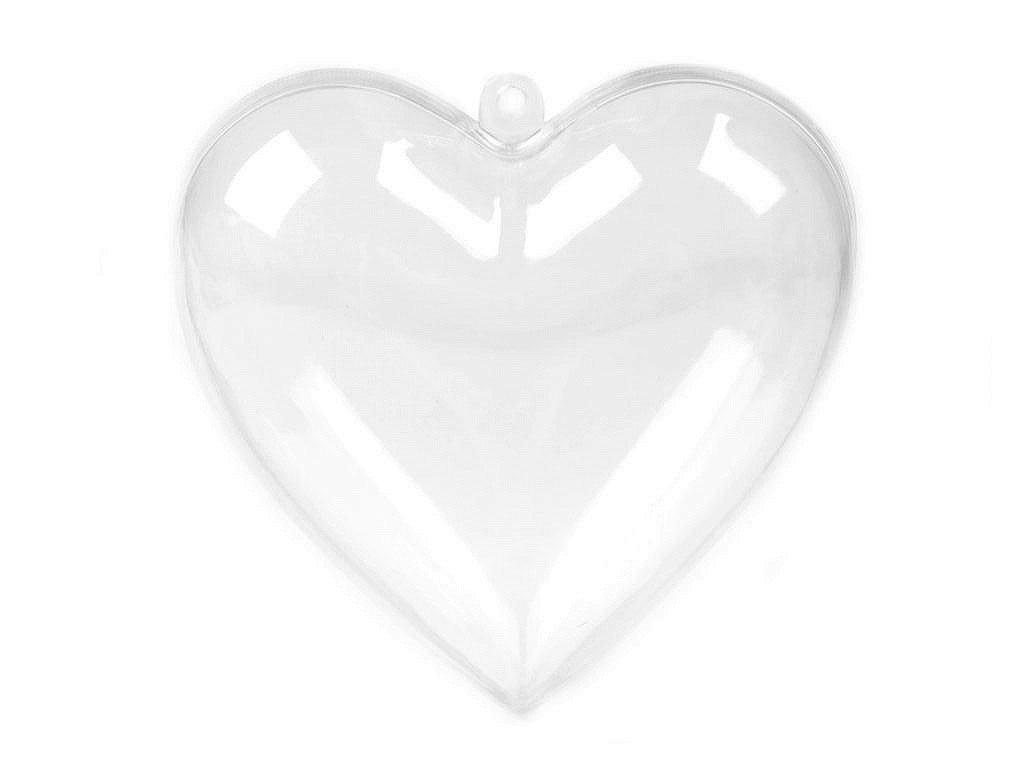 Plastové srdce 8x8 cm dvojdielne