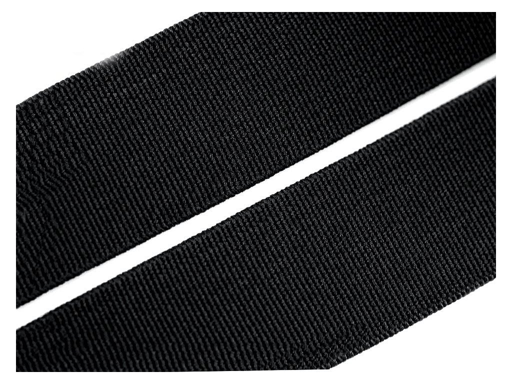 Guma hladká 20mm tkaná čierna