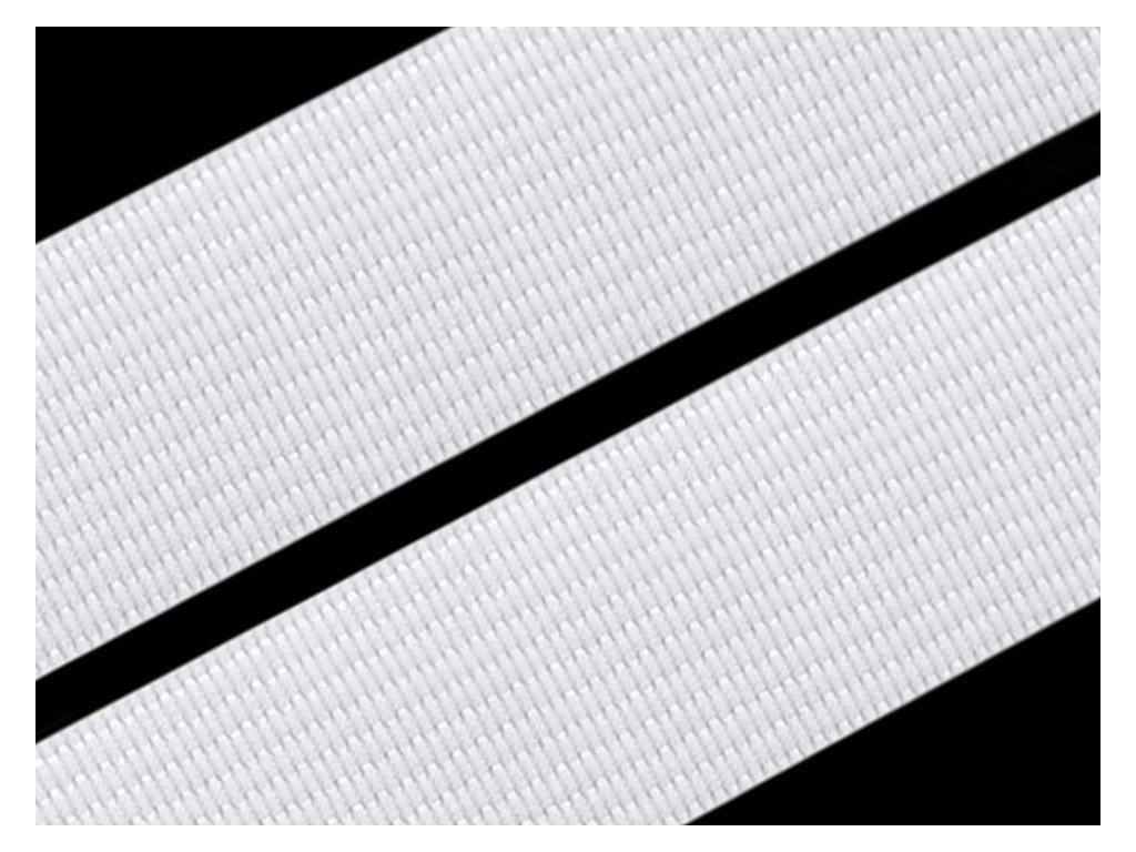 Guma hladká 20mm tkaná biela