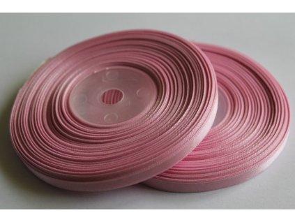 Saténová stuha 6mm A061 pastelová ružová