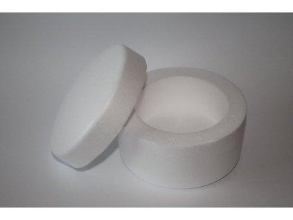 Polystyrénová krabička okrúhla