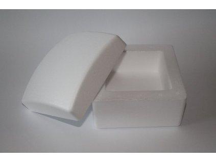 Polystyrénová krabička štvorcová