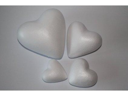 Polystyrénové srdce 15 cm