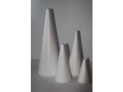 Polystyrénový kužeľ 25 cm